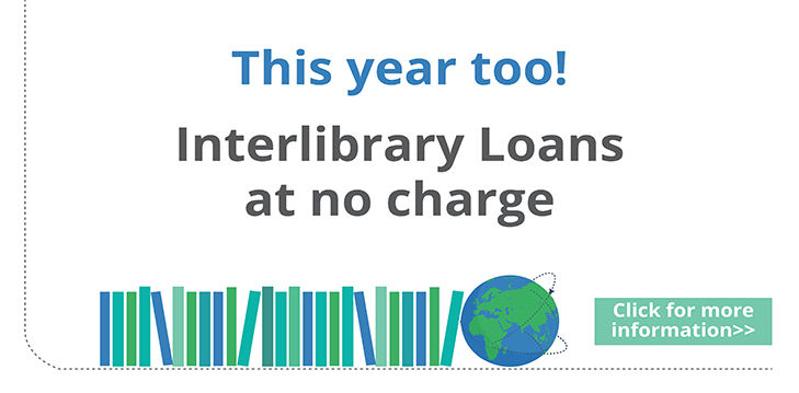 This year too! Interlibrary Loans at no charge